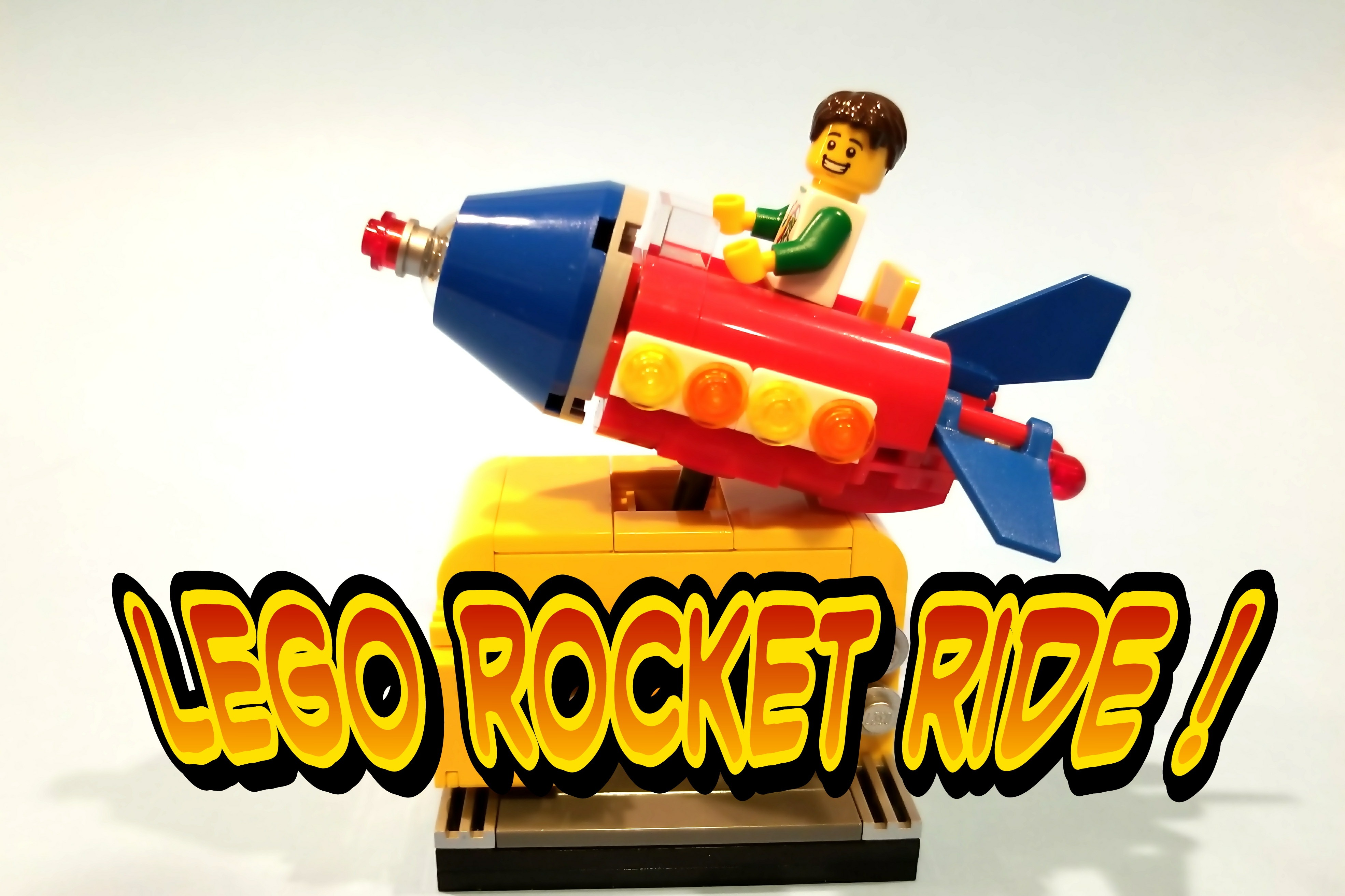Coin Operated Rocket Ride in Lego